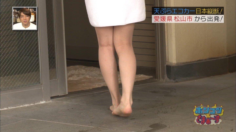 「ポンコツ&さまぁ~ず」でバスタオル一枚になり入浴する及川奈央