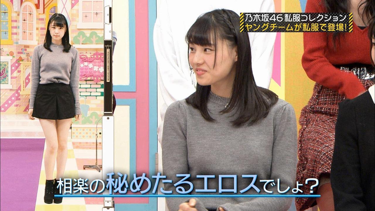 乃木坂46私服コレクションでニットを着た相楽伊織の着衣巨乳