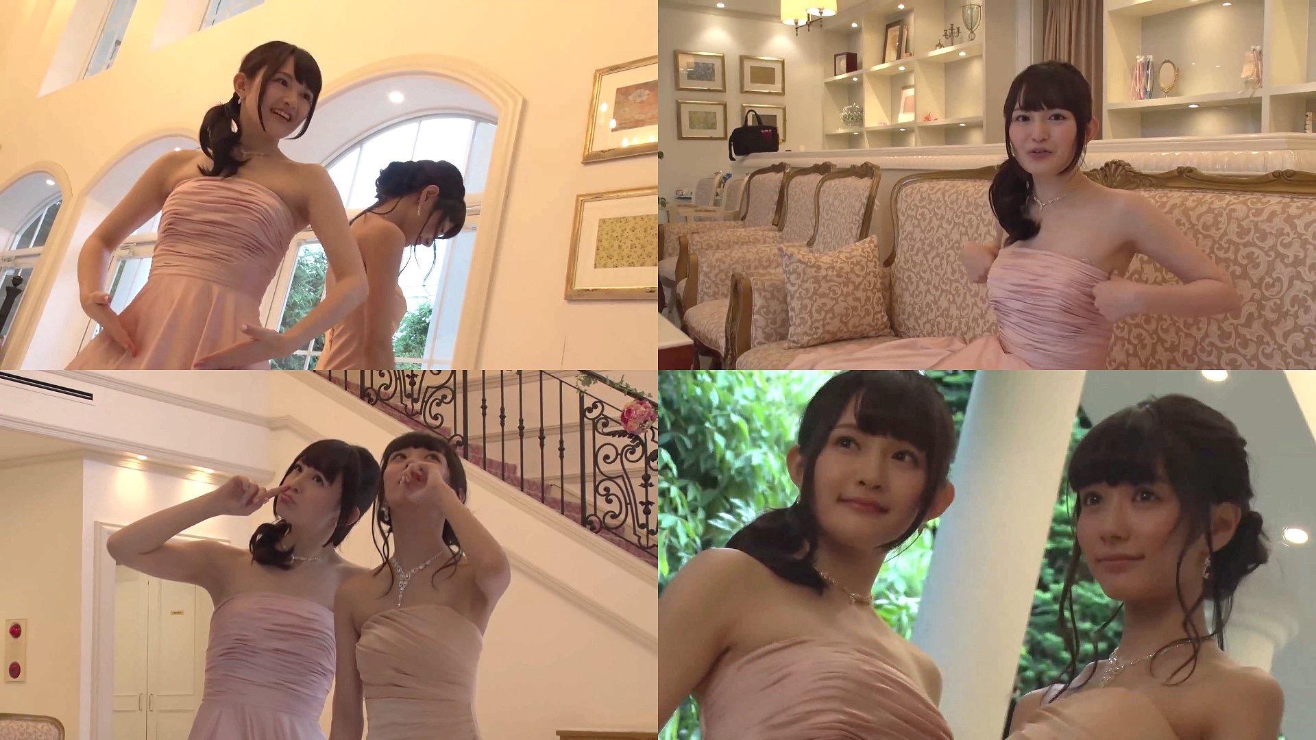 デコルテ丸出しのセクシードレスを着た西明日香