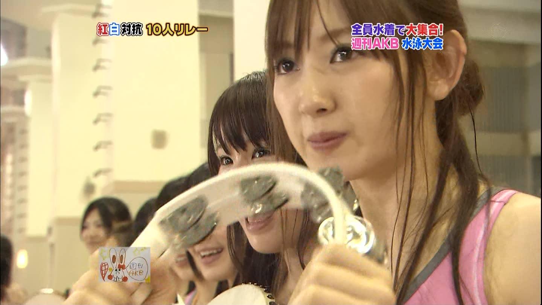 テレビでアップになった小嶋陽菜の顔