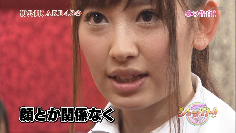 テレビでアップになった小嶋陽菜の肌荒れ顔