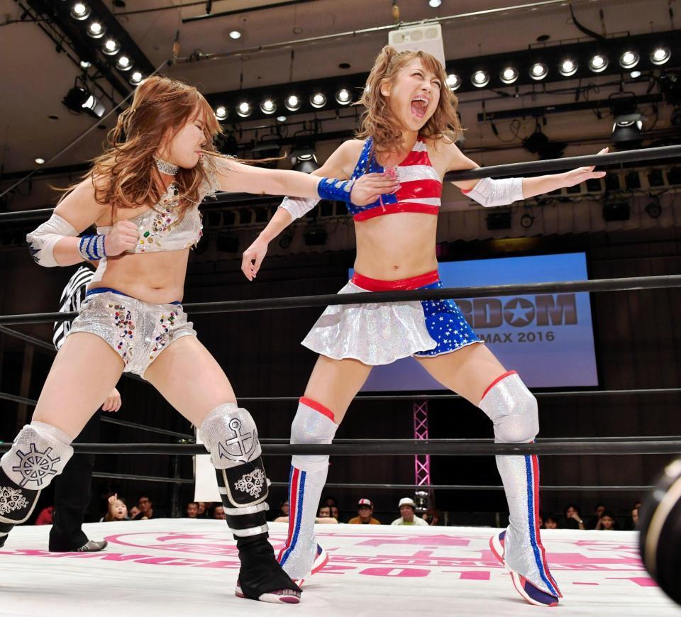 女子プロレス団体・スターダムの興行でリングデビューを果たした鈴木奈々