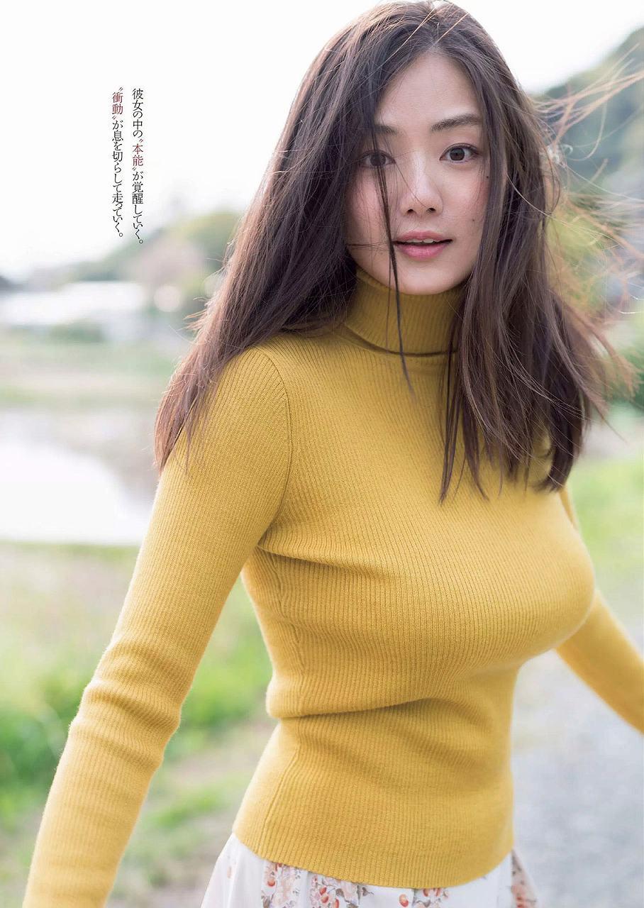 「週刊プレイボーイ 2016 No.25」片山萌美のニット着衣巨乳グラビア