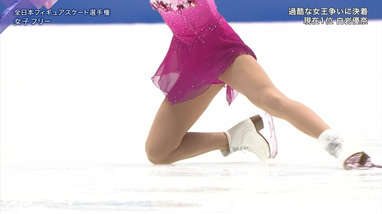 全日本フィギュアスケート選手権で滑る本田真凛