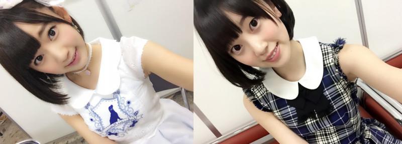 宮脇咲良と堀未央奈の自撮り画像