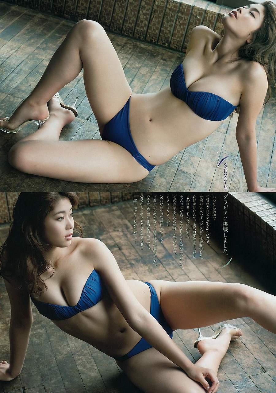 「ビッグコミックスピリッツ 2016 No.48」稲村亜美の水着グラビア
