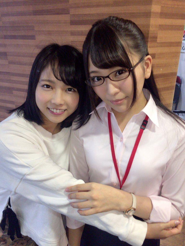 SODのAV女優・戸田真琴と加藤ももかのツーショット