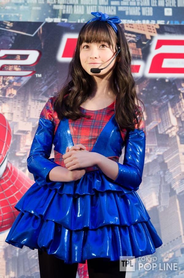 映画「アメイジング・スパイダーマン2」公開記念前夜祭に登場した橋本環奈