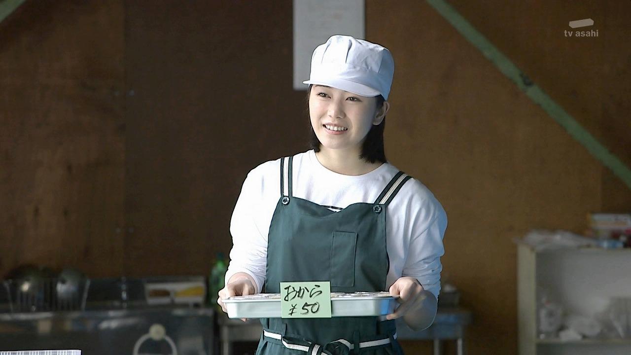 ドラマ「豆腐プロレス」で豆腐屋を演じる横山由依