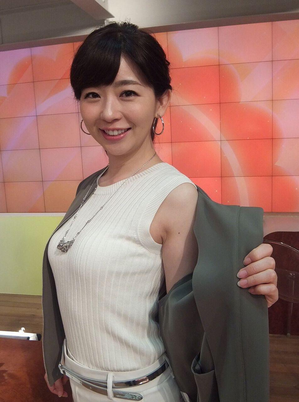 ニットを着たテレ朝・松尾由美子アナの着衣巨乳