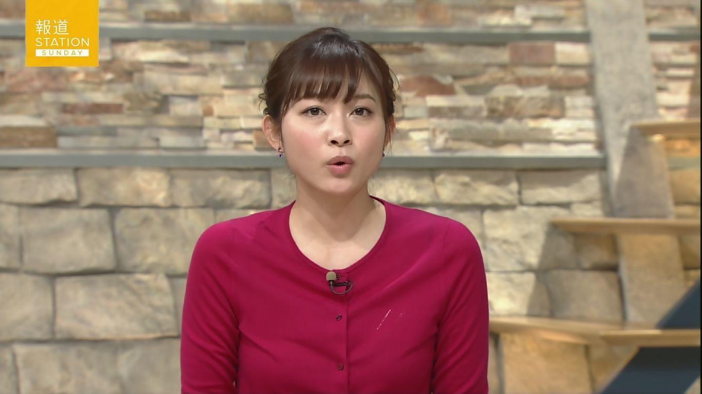 テレ朝「報道ステーション SUNDAY」でブラが透けてる久冨慶子アナ