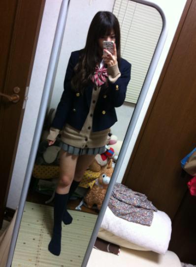 JK時代、制服を着た西野七瀬