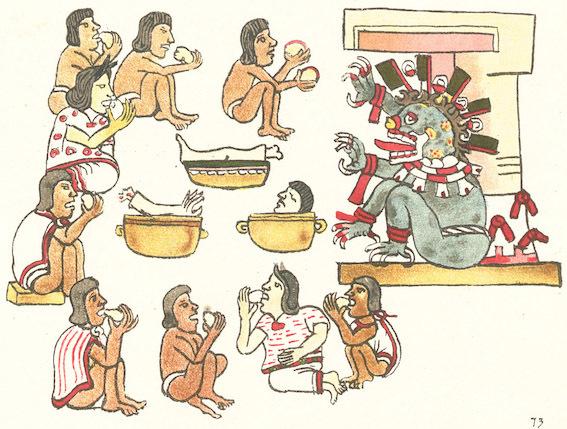 アステカの絵文字 写真
