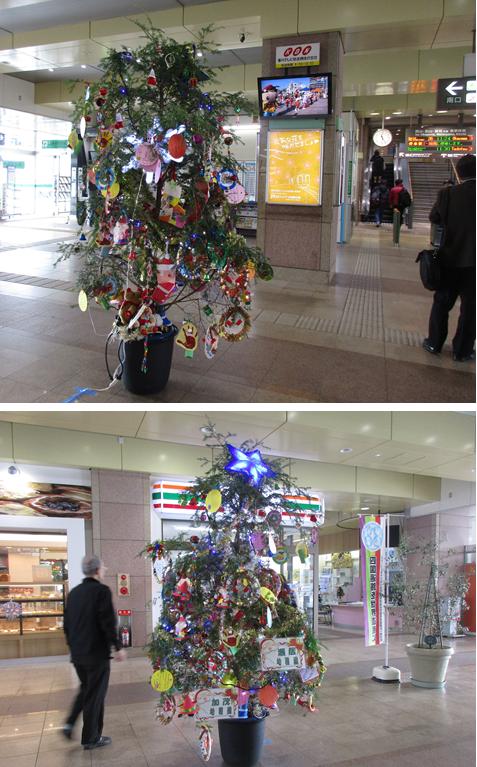 20161221クリスマス坂出駅