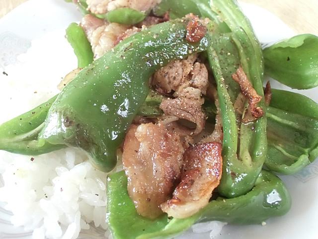 豚の脂と黒胡椒
