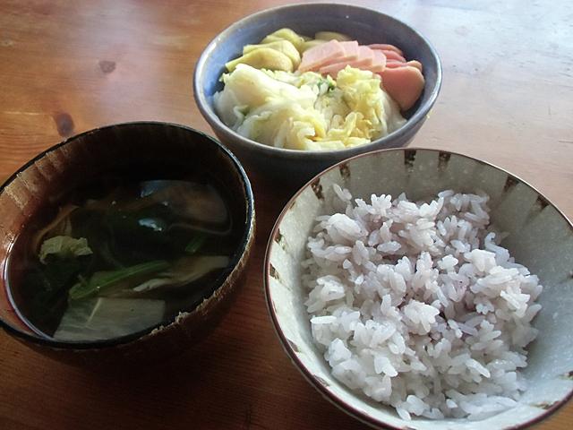 冬の朝ご飯