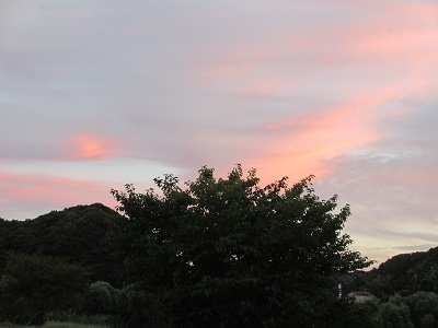 夕焼け(山側)