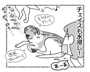 羊の国のラブラドール絵日記シニア!!「エビスの水漏れ修理」4