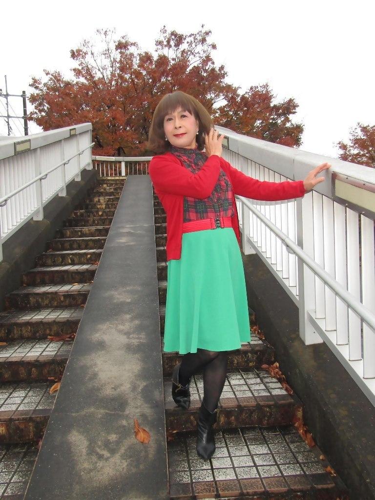 赤カーで緑スカートA(1)
