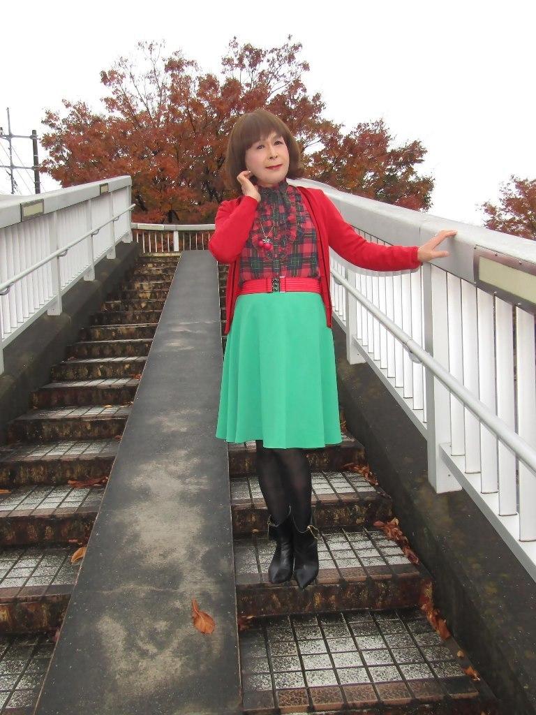 赤カーで緑スカートA(2)