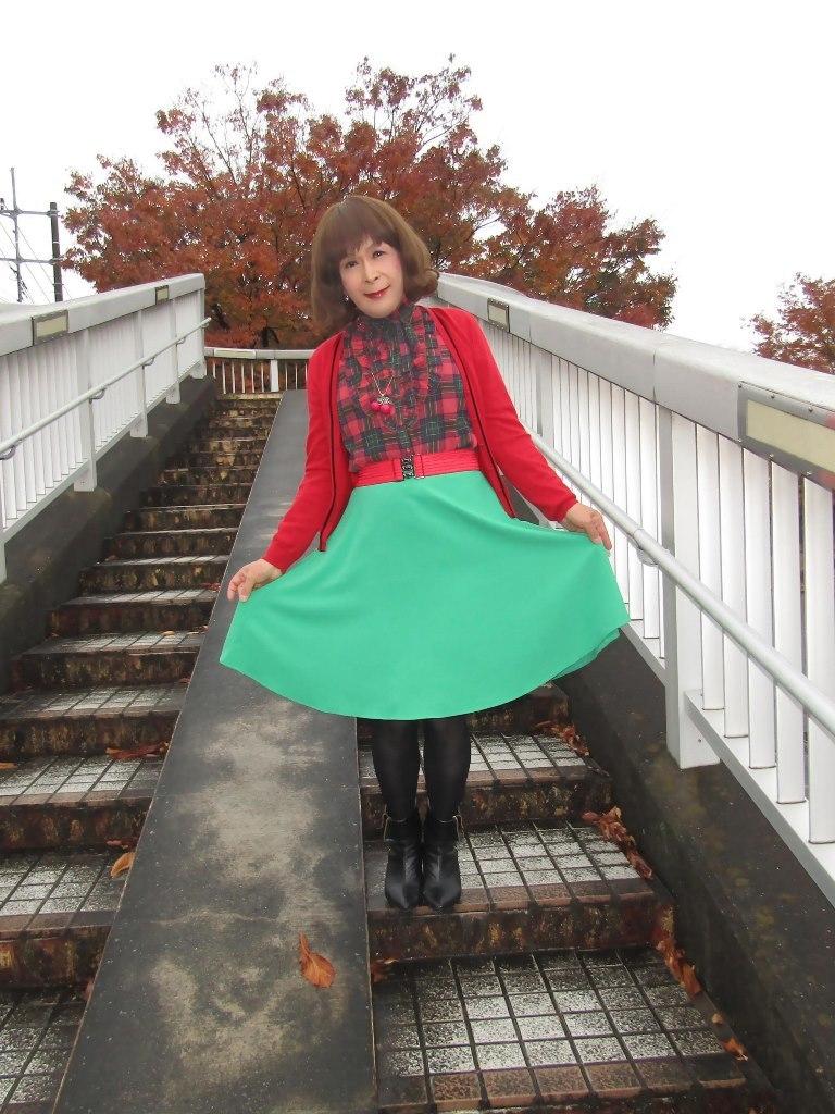 赤カーで緑スカートA(3)