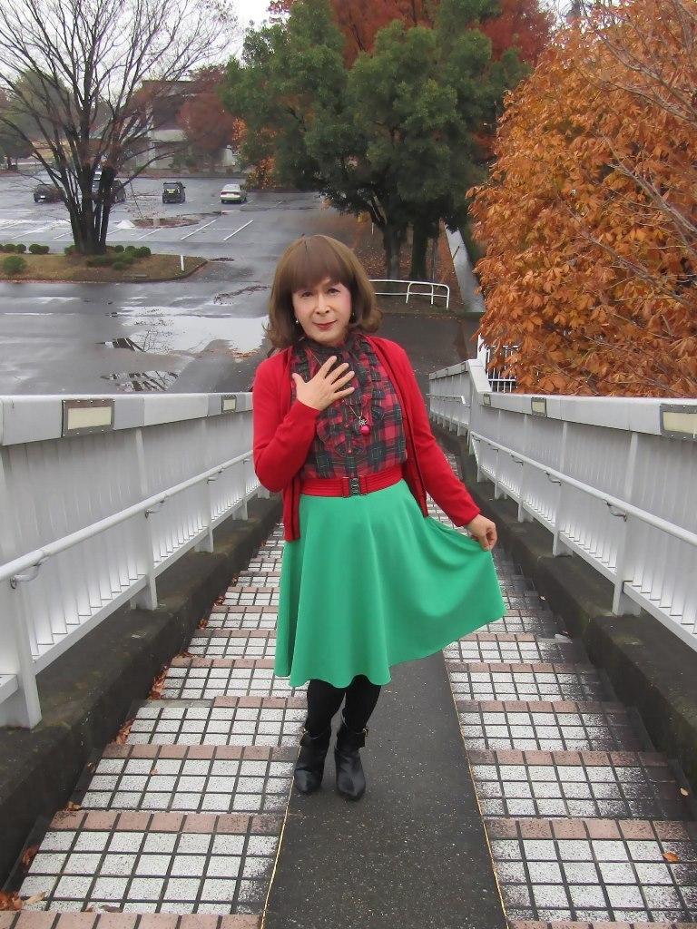 赤カーで緑スカートA(4)