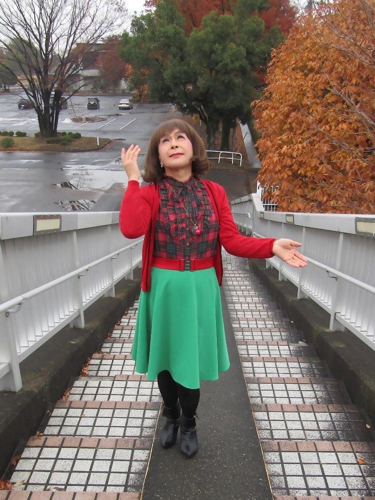 赤カーで緑スカートA(5)