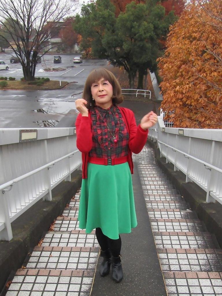 赤カーで緑スカートA(6)