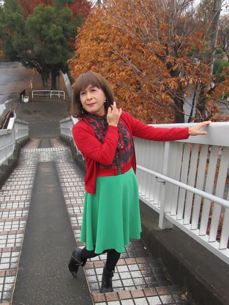 赤カーで緑スカートA(7)