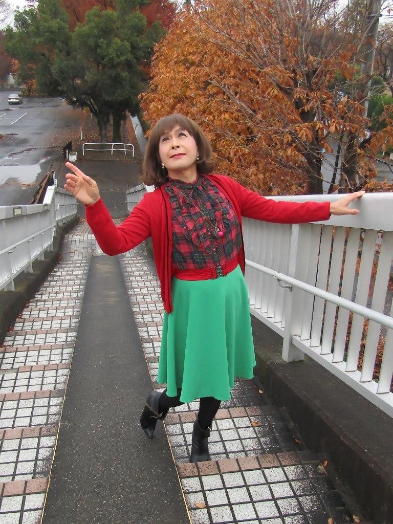 赤カーで緑スカートA(8)