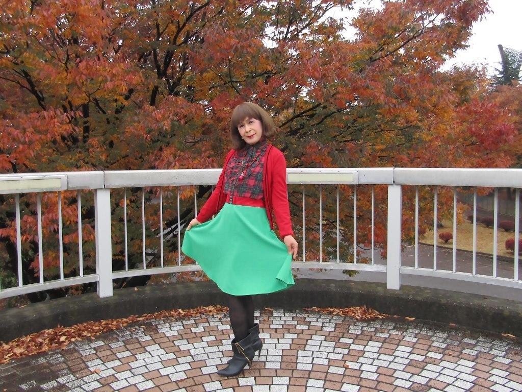 赤カーデ緑スカートB(1)