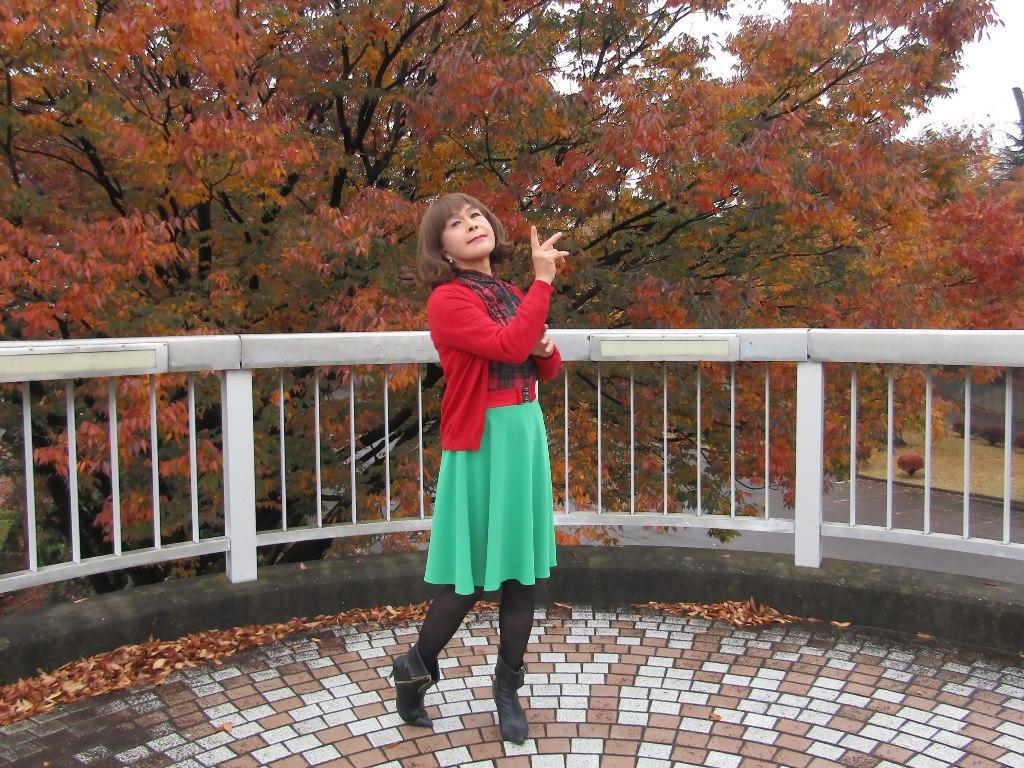 赤カーデ緑スカートB(3)
