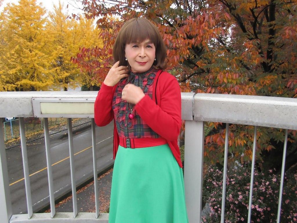 赤カーデ緑スカートB(7)