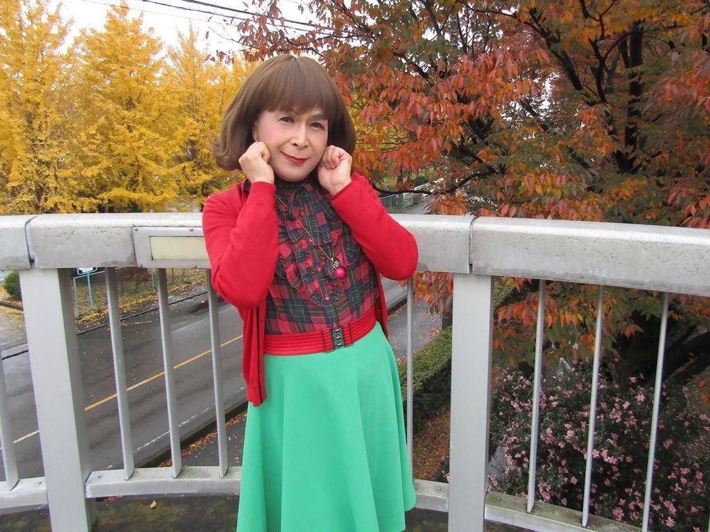 赤カーデ緑スカートB(8)