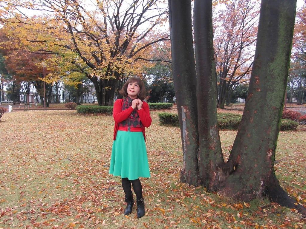赤カーデ緑スカートC(1)