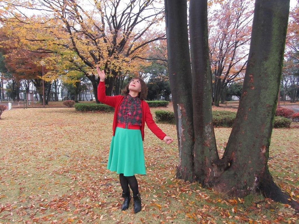 赤カーデ緑スカートC(2)