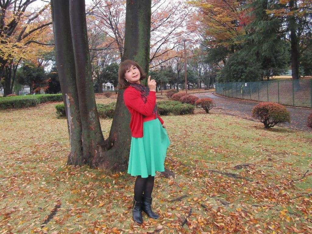 赤カーデ緑スカートC(5)