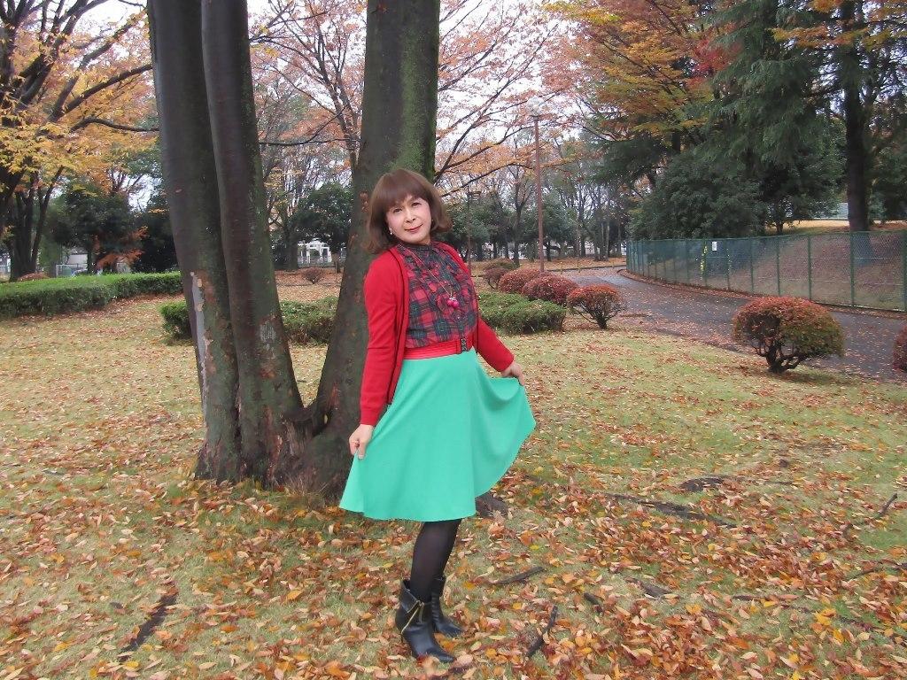 赤カーデ緑スカートC(6)