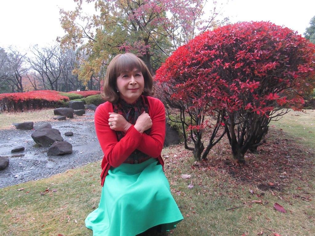 赤カーデ緑スカートD(7)