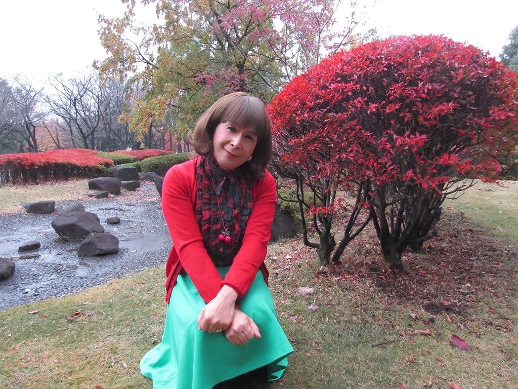 赤カーデ緑スカートD(8)