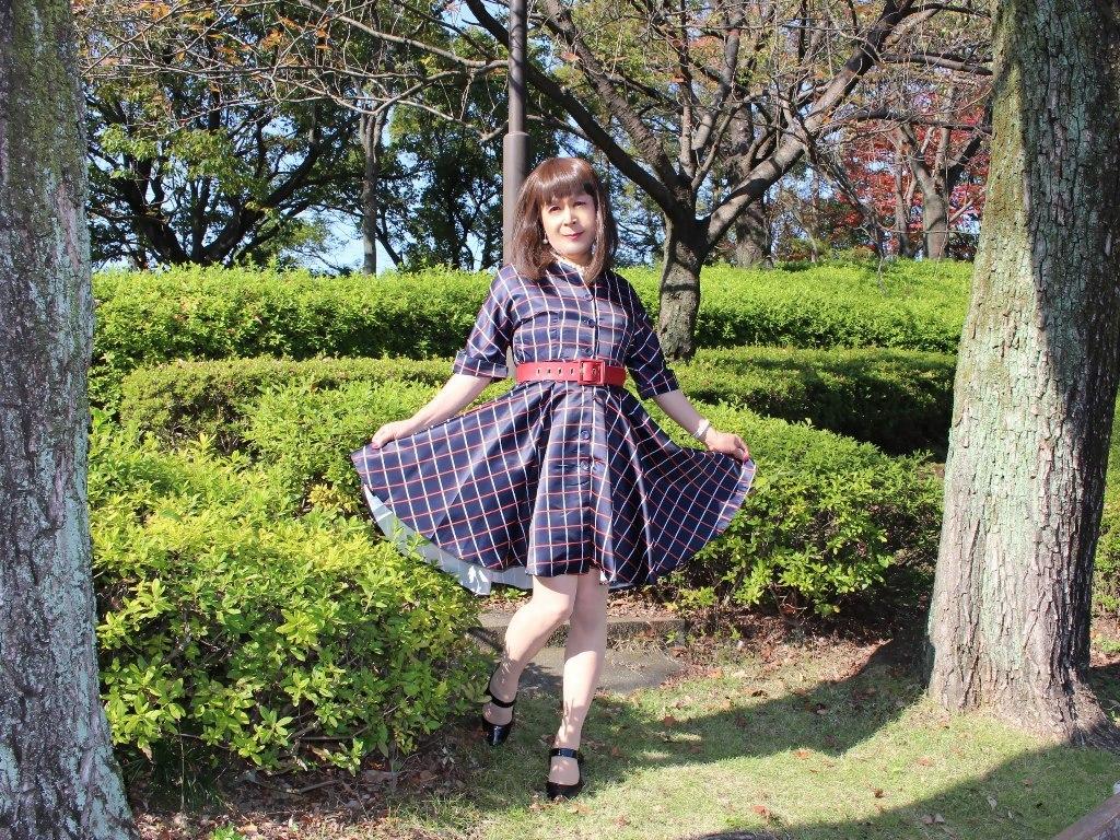 格子柄ワンピA(5)