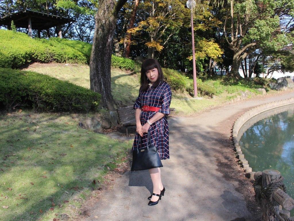 格子柄ワンピA(6)
