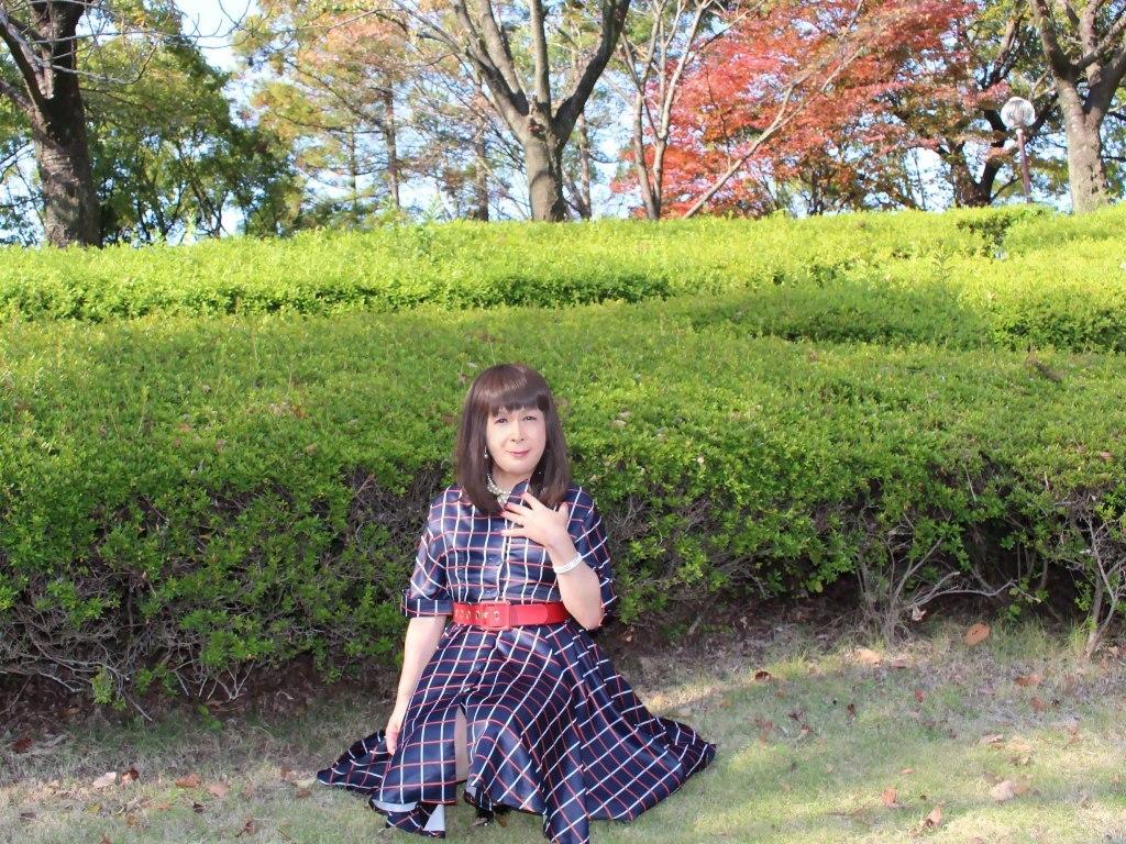格子柄ワンピC(1)