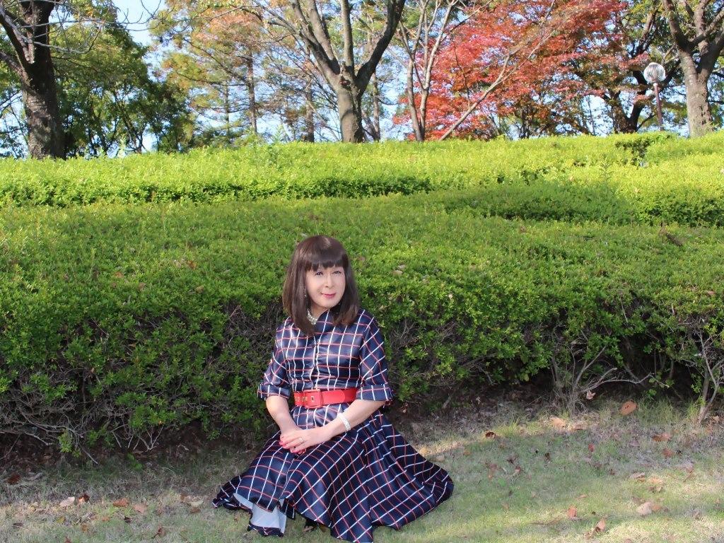 格子柄ワンピC(2)