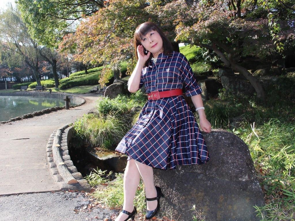 格子柄ワンピC(4)