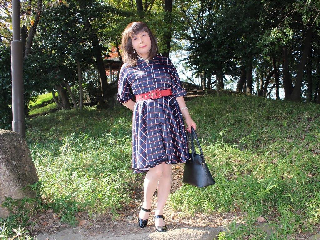 格子柄ワンピC(6)