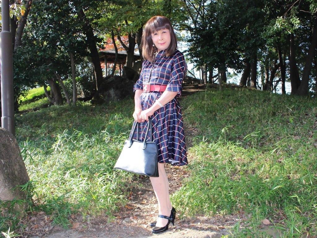 格子柄ワンピC(7)