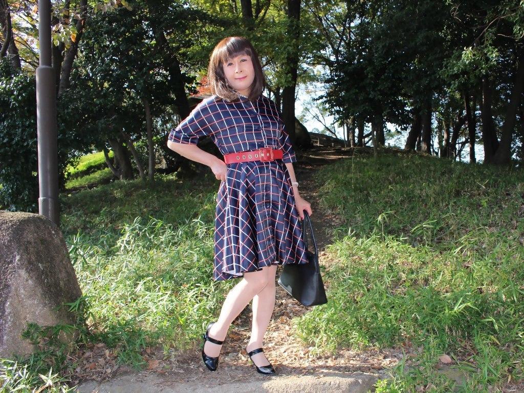 格子柄ワンピC(8)
