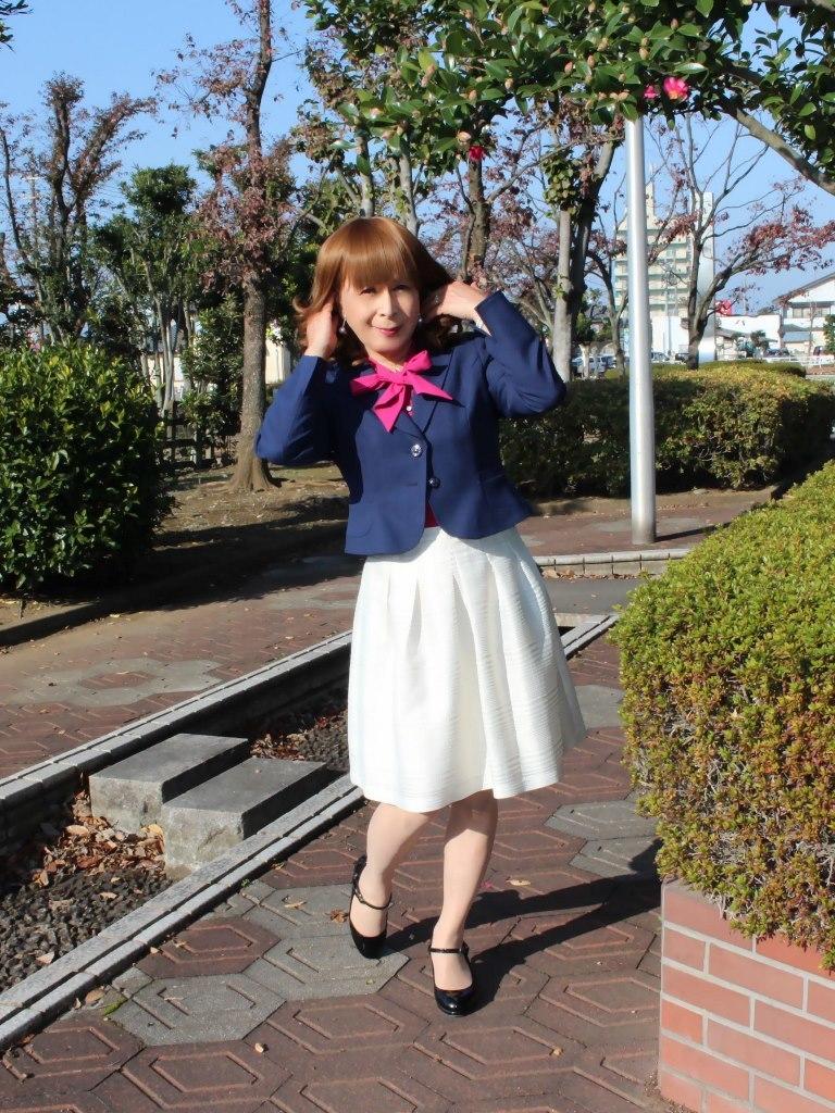 紺ジャケット白フレアースカートB(6)