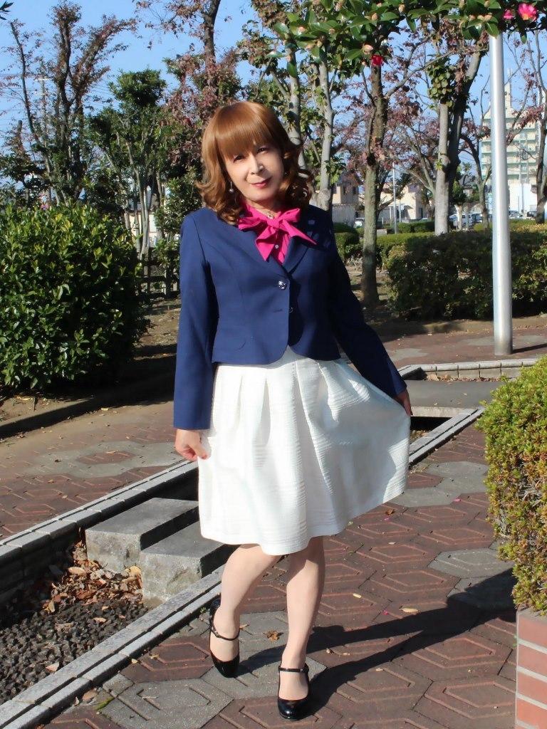 紺ジャケット白フレアースカートB(7)